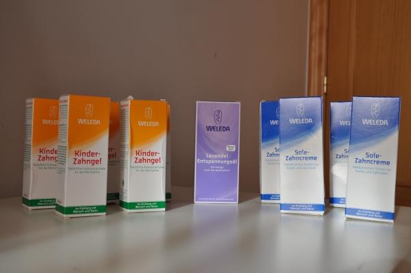 pasta de dientes de la marca Weleda